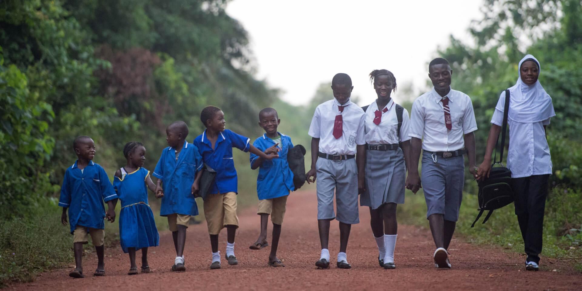 Sierra Leone Schulkinder , © Helge Bendl/Brot für die Welt