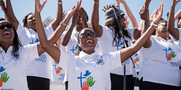 LWB Vollversammlung Namibia Gottesdienst Reformationsjubilaeum Chor,© LWF / Johanan Celine Valeriano
