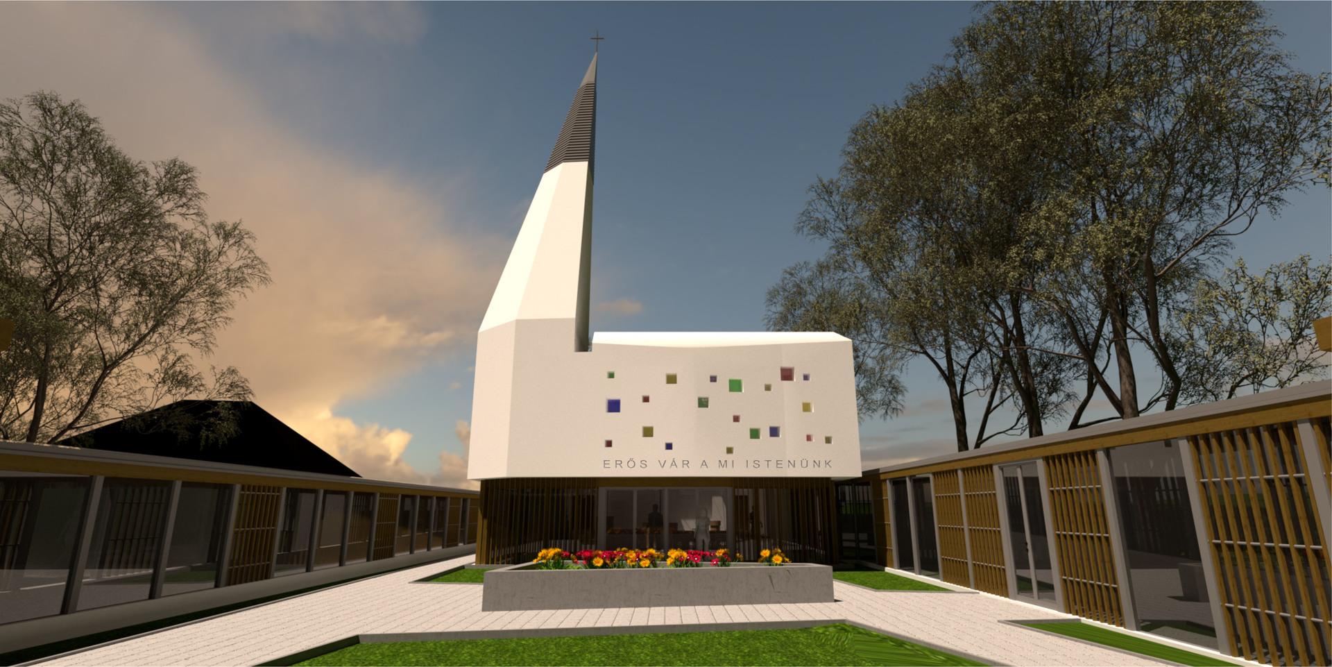 Modell für den Neubau der Kirche in Piliscsaba in Ungarn