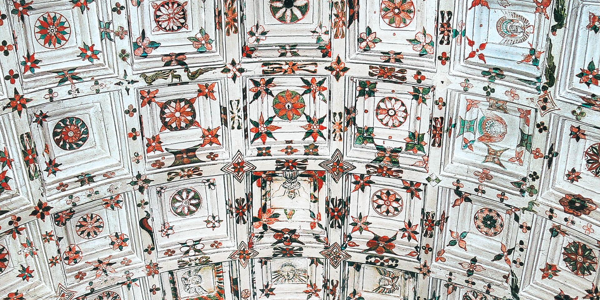 Deckenmalerei in der Marienkirche in Kottayam
