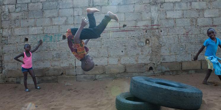 Mosambik Maputo Schulzentrum Kinder spielen
